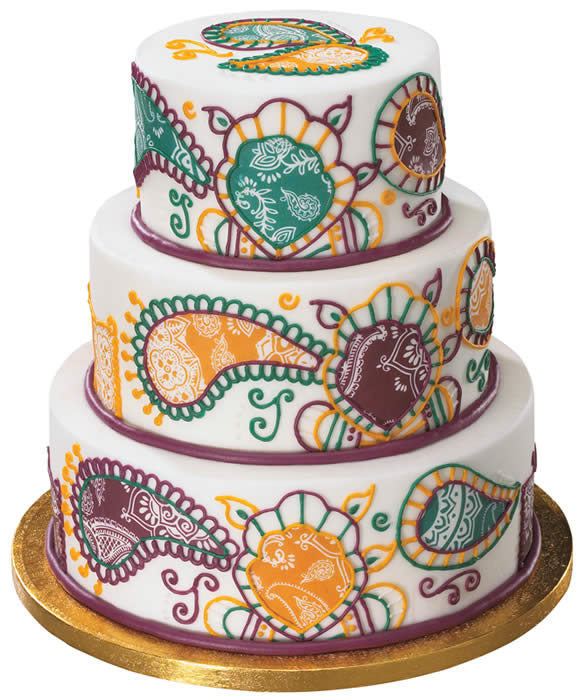Chef Duff S Henna Cake Design Using Edible Image As Basis Of Design